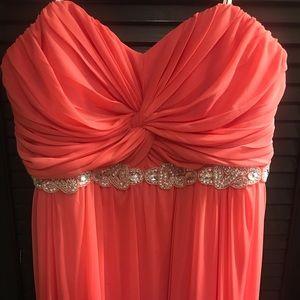 Floor length formal dress size 21